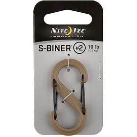 Nite Ize S-Biner Plastic Carabiner #2 Brown
